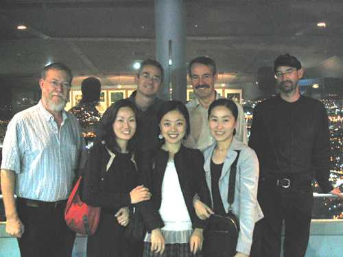 From left to right, the men are John Jarrold, Cliff McNish, Brian Rosebury and Chaz; the women are Sunah You, Hyang-A Lee and Yoomie Goh